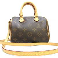 Tagre™ LOUIS VUITTON Monogram Nano Speedy Shoulder Bag M61252
