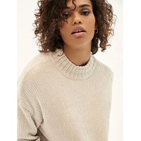Chenille Cable Sweater Moonstone