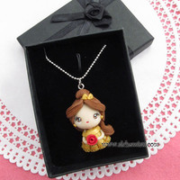 Belle necklace  Beauty and the Beast inspired by AlchemianShop