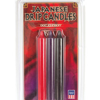 Japanese Drip Candles - Pack Of 3