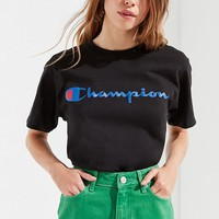 Champion + UO Logo Tee | Urban Outfitters