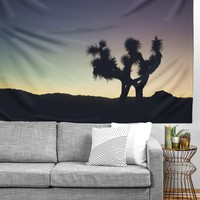 Catherine McDonald Sunset at Joshua Tree Tapestry | Deny Designs