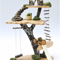 Fairy Tree House: Natural Wooden Doll House Toy