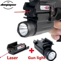 2 in 1 Tactical Red Dot Laser Sight + LED  Hunting Laser Gun light Weapon Light for Pistol Glock 17,19,20,21,22,23,30,31,32