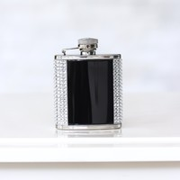 Black & Silver Small Flask