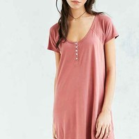 Truly Madly Deeply Henley T-Shirt Dress