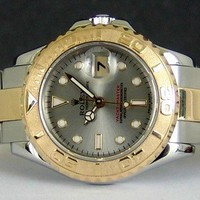 ROLEX - Ladies 18kt Gold & Stainless YachtMaster Grey Dial - 169623 SANT BLANC