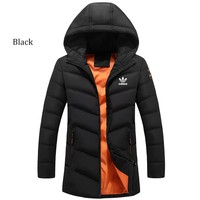 NIKE winter new trend thickening down cotton jacket casual warm cardigan Black