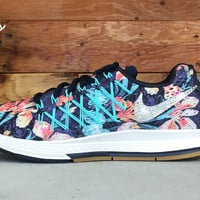 Nike Nike Air Zoom Pegasus 32 Photosynthesis customized by Glitter Kicks Running Shoes Floral Pattern