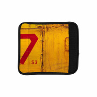 """Steve Dix """"7S3"""" Yellow Painting Luggage Handle Wrap"""