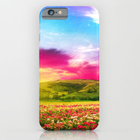 FIELD OF ROSES - for iphone iPhone & iPod Case by Simone Morana Cyla