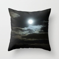 moon Throw Pillow by Marianna Tankelevich