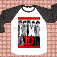 One Direction TShirt 1D TShirt Rock Tee Shirt Long Sleeve Tee Shirt Women TShirt Unisex TShirt Raglan Shirt Baseball Tee Shirt Size S,M,L