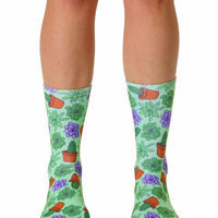 Green Thumb Crew Socks