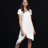 Delilah V-Neck Pocket T Shirt Dress