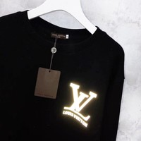 Louis Vuitton Popular Women Men Luminous Print Casual Long Sleeve Sweater Sweatshirt Top