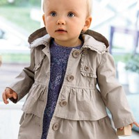New 2017 Baby Girls Jackets Casual Spirng Clothes Cotton Baby Girls Coats Outwear Baby Girls Clothing Costume CC578-CGR1