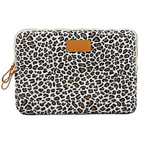 """11.6"""" 12.1"""" 13.3"""" Canvas Leopard Laptop Cover Shakeproof Case for MacBook DELL ThinkPad SONY HP SAMSUNG - Default"""