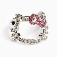 Hello Kitty Outline Ring: Pink Bow - 7
