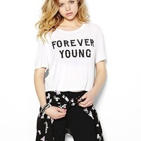 """""""Forever Young"""" Cropped Top - Graphic Tees - Garage"""