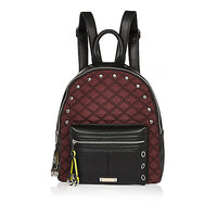 Dark red quilted backpack - backpacks - bags / purses - women