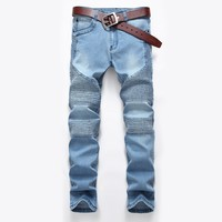 2017 High Quality Men Jeans elastic Jeans Men Fashion Skinny Jeans Stretch 5 Colors Size 28-42