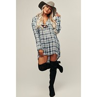 Lounge Affair Plaid Tunic (Blue Navy)