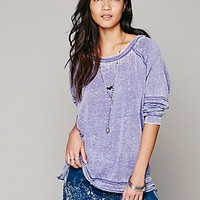 Free People Womens Drifter Slouchy Pullover