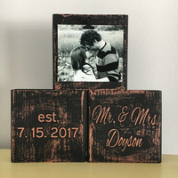 Wedding gift bridal shower gift anniversary gifts wedding gifts for couple personalized wedding gift rose gold decor wedding mementos sign