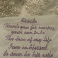 Mother of the Groom Personalized Embroidered Wedding Handkerchief ,FREE gift box inluded