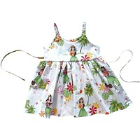 hula girl white hawaiian girl sundress