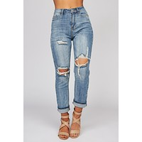 Stay With Me Distressed Jeans (Medium Wash)