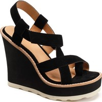 Bill Blass Rae Strappy Wedge Sandal (Women) | Nordstrom