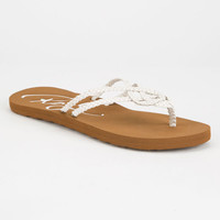 Roxy Cancun Womens Sandals White  In Sizes