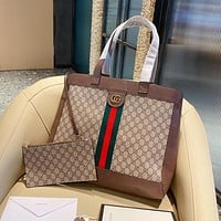 Gucci new shopping bag fashion two-piece one-shoulder handbag