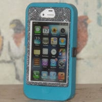 iPhone 4 Case Cover Glitter Cute Custom Sparkly Bling Otterbox Defender iPhone 4S Case Smoke Glitter