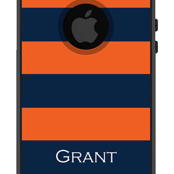 Otterbox iPhone 5 Case Commuter Series 5 5s Personalized Men Guys Gift Rugby Stripe Preppy Monogrammed Protective Plastic Hard Cover OB-1114