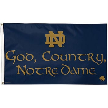 A1532b God Country Notre Dame Flag From Campus Collections