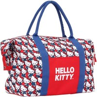 """Hello Kitty """"Red/White and Blue Heads"""" Overnighter Bag - Walmart.com"""