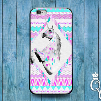 iPhone 4 4s 5 5s 5c 6 6s plus iPod Touch 4th 5th 6th Generation Cover Amazing Pretty Pink Aztec Unicorn Custom Cute Tribal Animal Horse Case