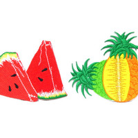 Melon Iron on Patch/ Fruit Patches