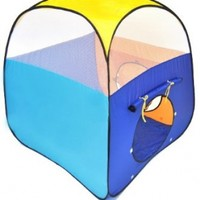Sunshine Square Twist Play Tent w/ Safety Meshing for Child Visibility Tote Bag