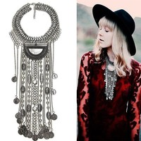 Stylish Jewelry Shiny Gift New Arrival Sweater Chain Alloy Vintage Tassels Ladies Luxury Necklace [11460791764]