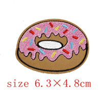 1Pcs Donut Embroidered Patch Iron On Patches Sewing Applique Badge Clothes Patch Stickers Apparel Craft Sewing Accessories