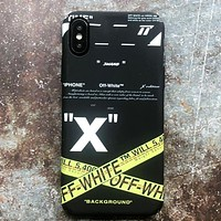 Off White Fashion New Letter Cross Arrow Print Women Men Phone Case Protective Cover