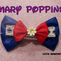 Mary Poppins Hair Bow Disney Inspired