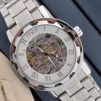 Men Watch Hot Sale Watch Hollow Out Mechanical Watch [9532097479]