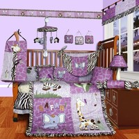 SISI Baby Girl Boutique - Safari 15 PCS Crib Bedding