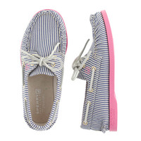 crewcuts Girls Sperry Top-Sider For J.Crew Authentic Original 2-Eye Boat Shoes In Stripe