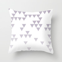 Purple Triangle Fade Throw Pillow by daniellebourland